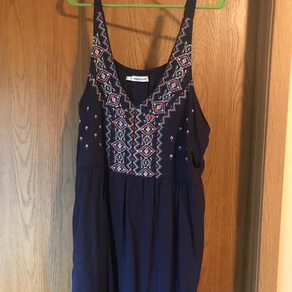 Maurices Dresses & Skirts - Maurice's navy Aztec print sleeveless dress